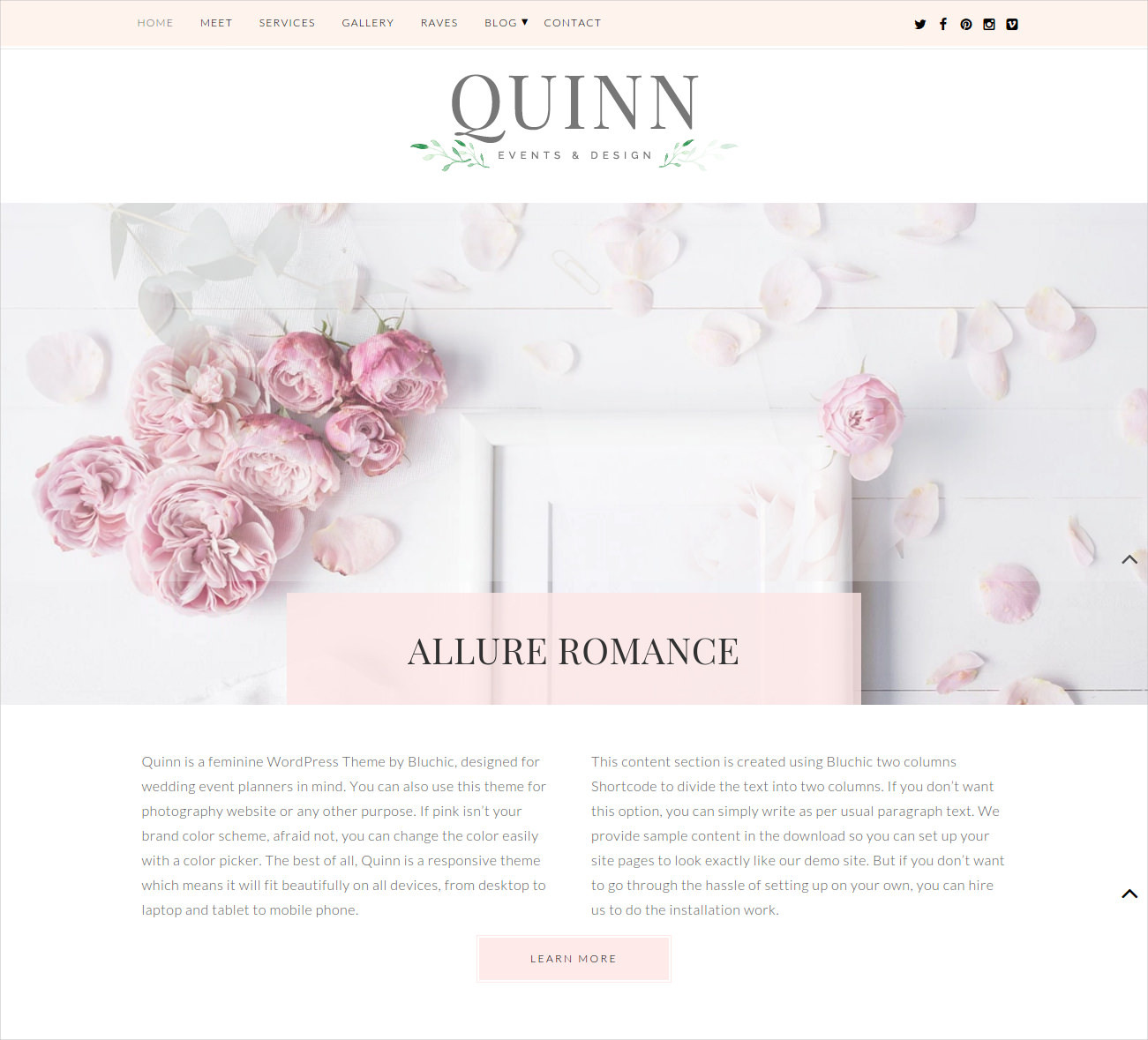 lovely wp wedding theme