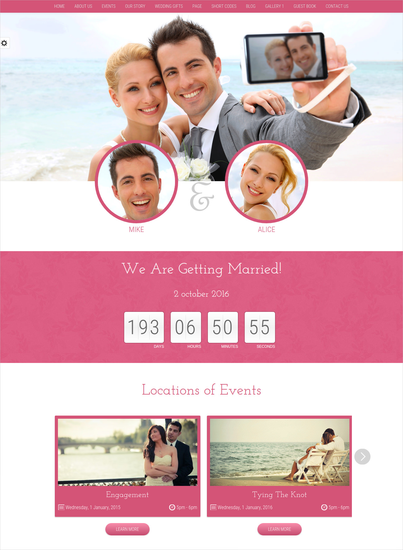 memorable wedding wp theme