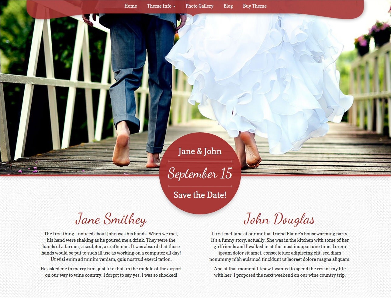 Perfect Marriage WP Theme