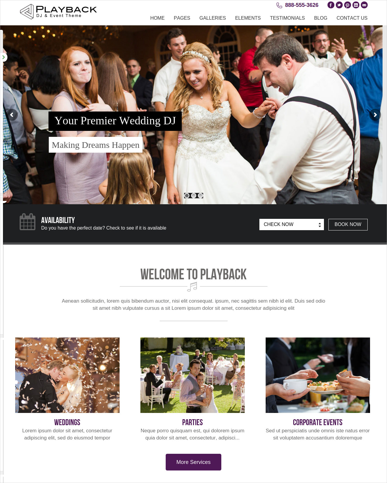 Premium Wedding DJ Theme