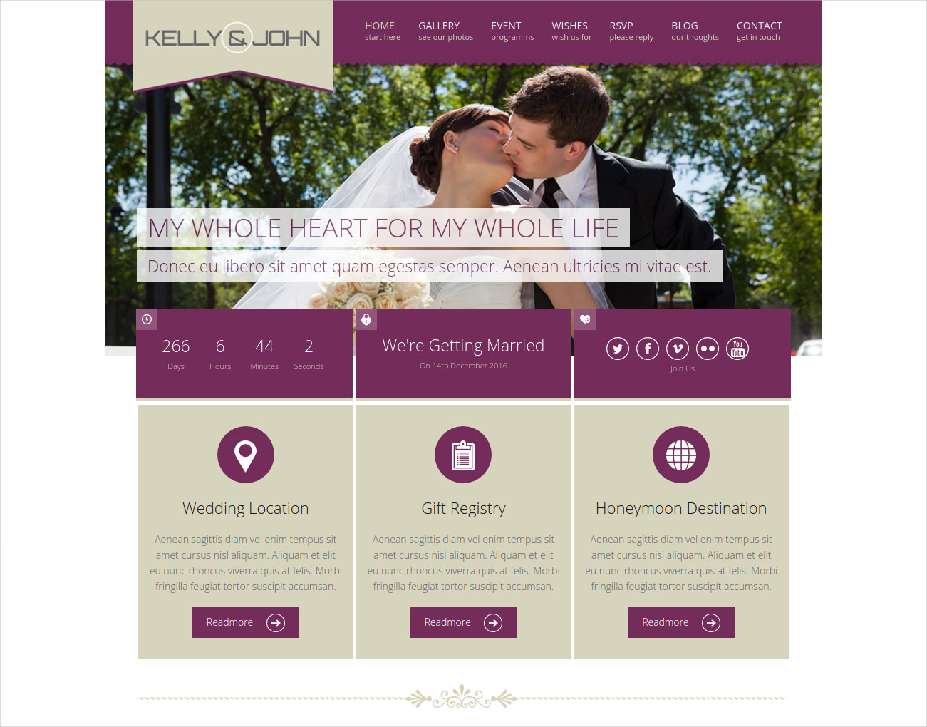 Soul Responsive WordPress Wedding Theme