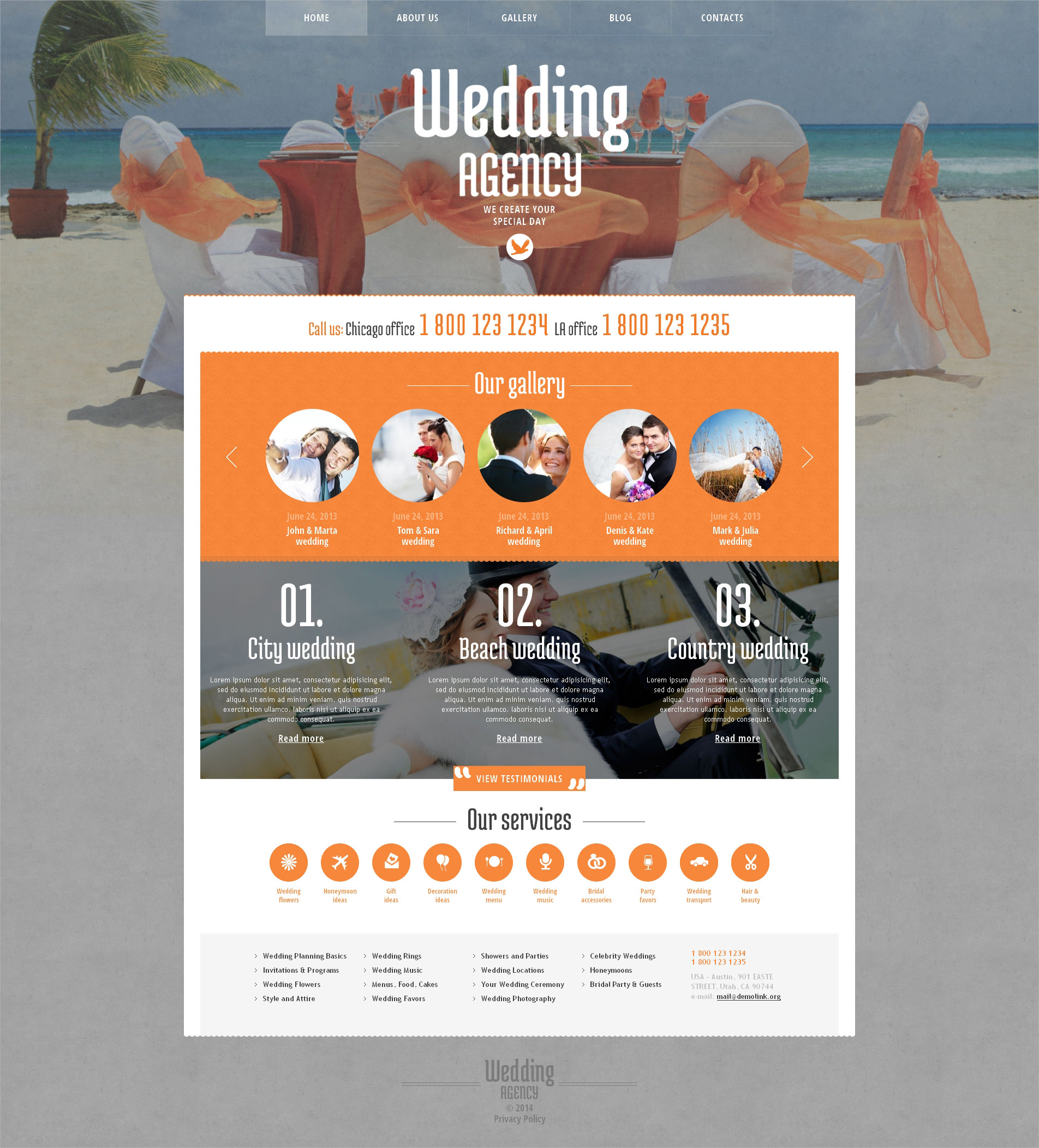 wedding agency beautiful wp theme
