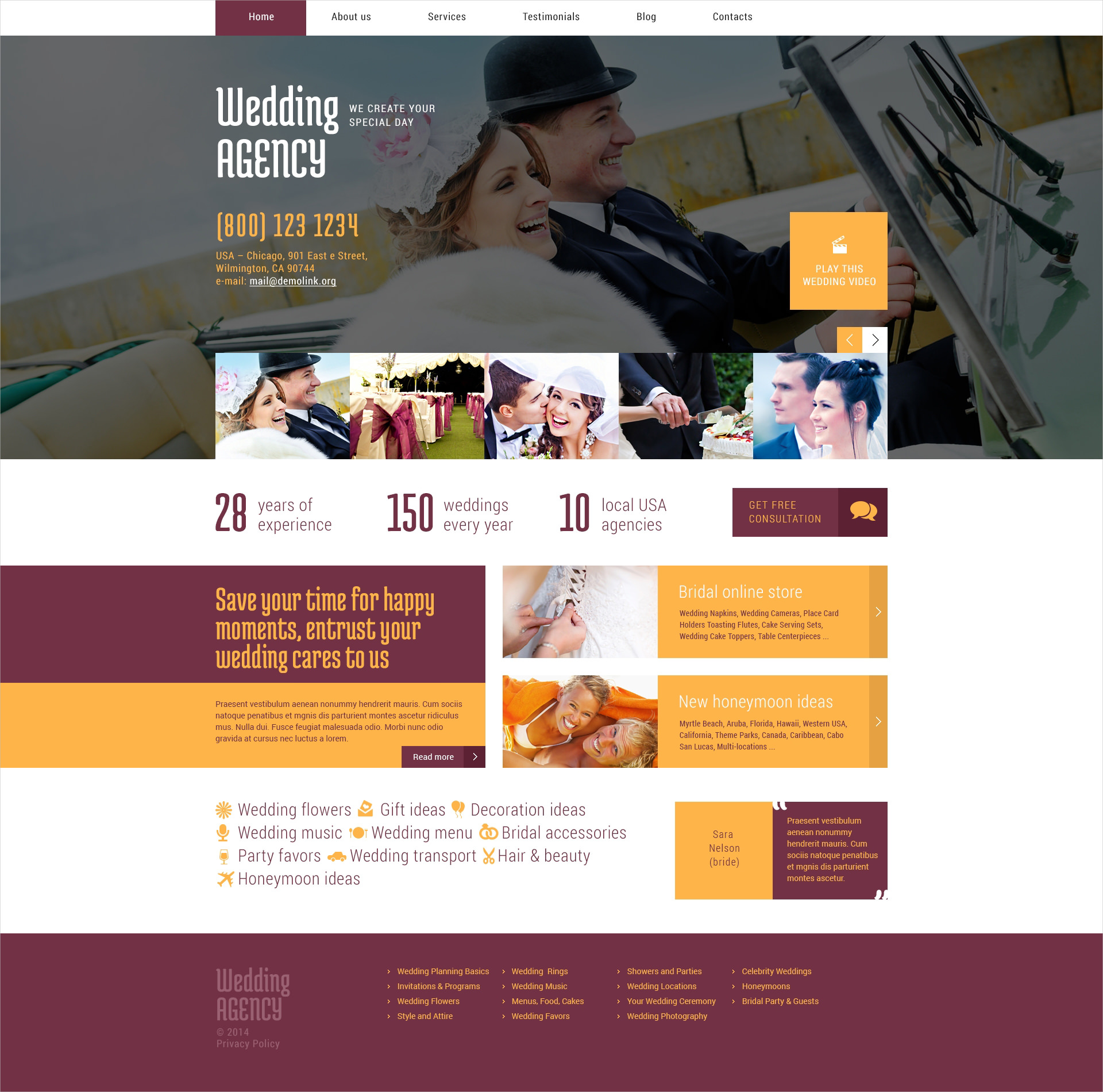 wedding agency theme
