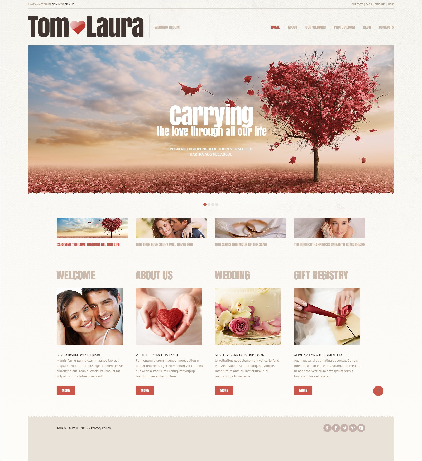 Wedding Album Responsive Theme