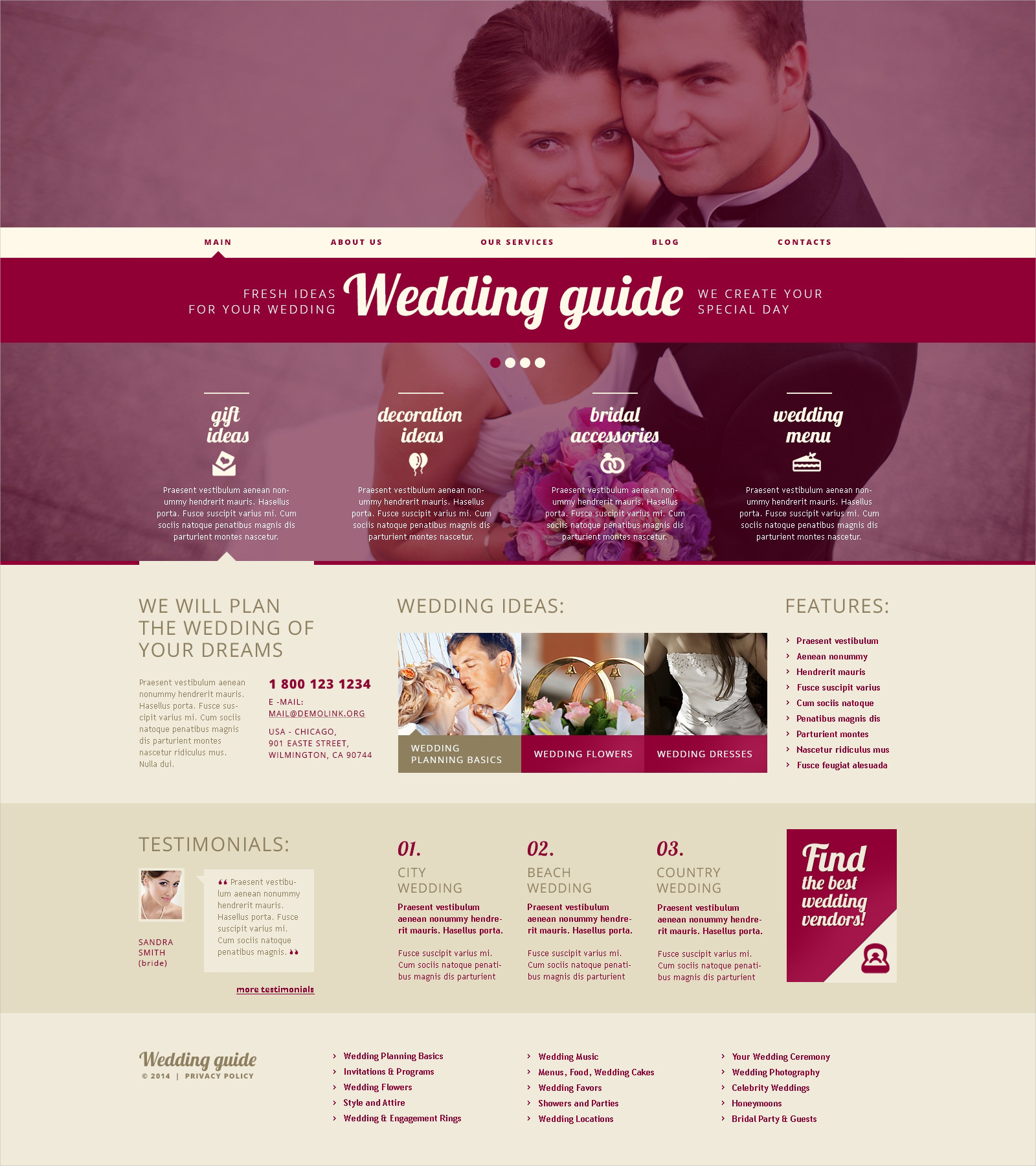 wedding guide wp theme