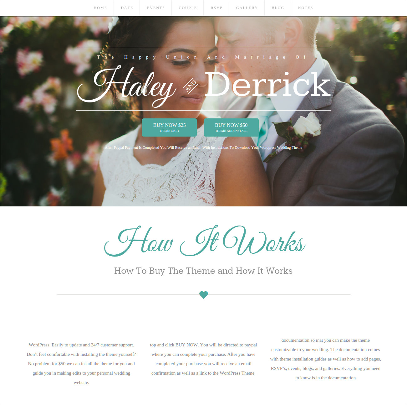 wedding template blog