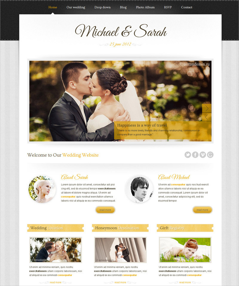 wedding website template wordpress