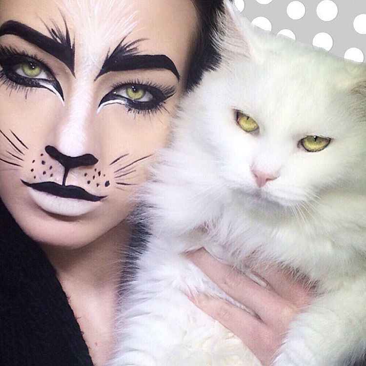 Realistic Makeup of Cat