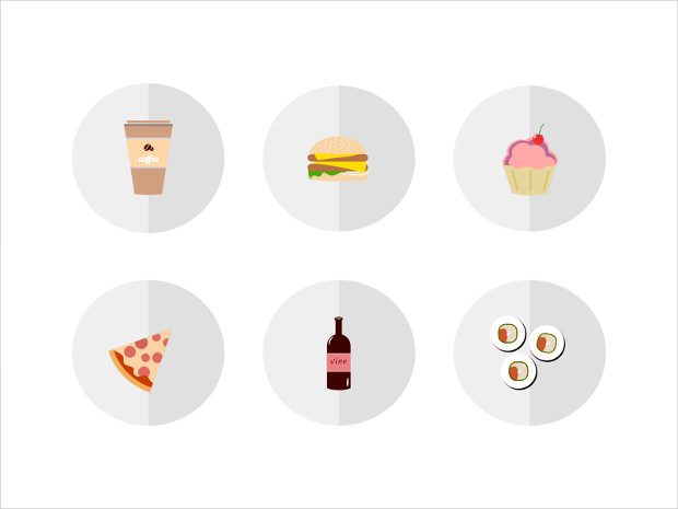 Icons for Food Delivery App