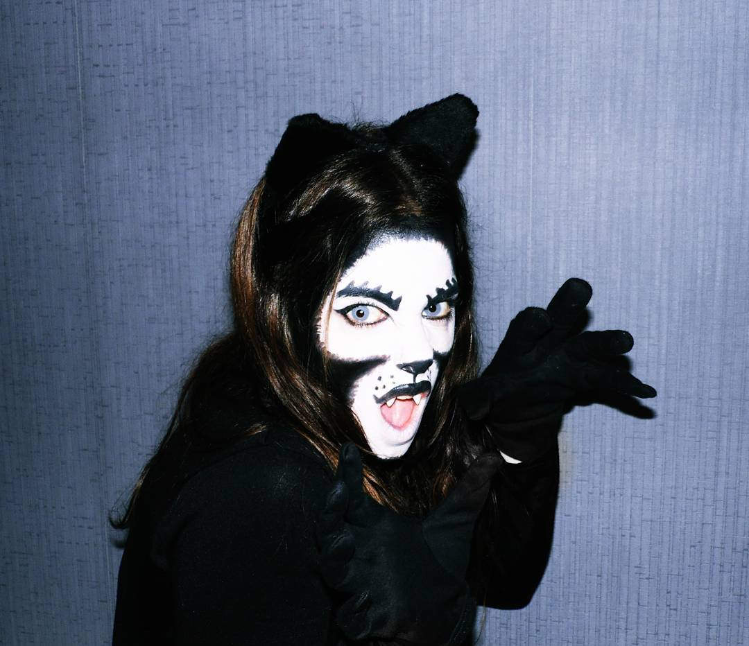 Cat Makeup for Halloween Party.