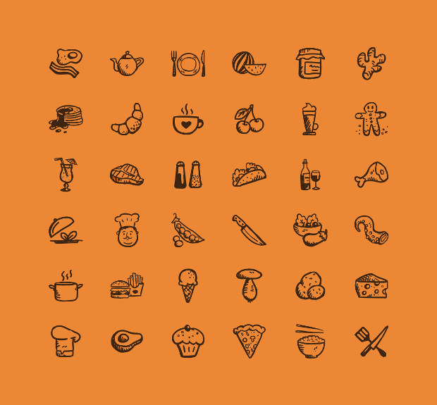 20 Tasty Icons Png Eps Svg Format Design Trends