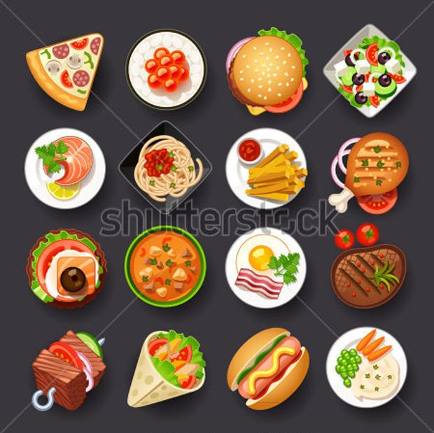 Tasty Dishes Icon Set