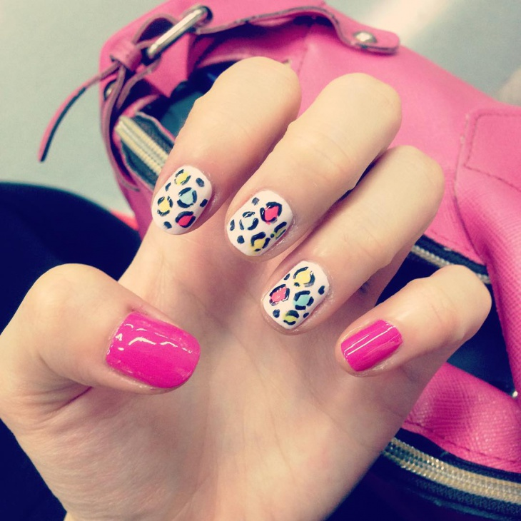 leopard acrylic nail designs