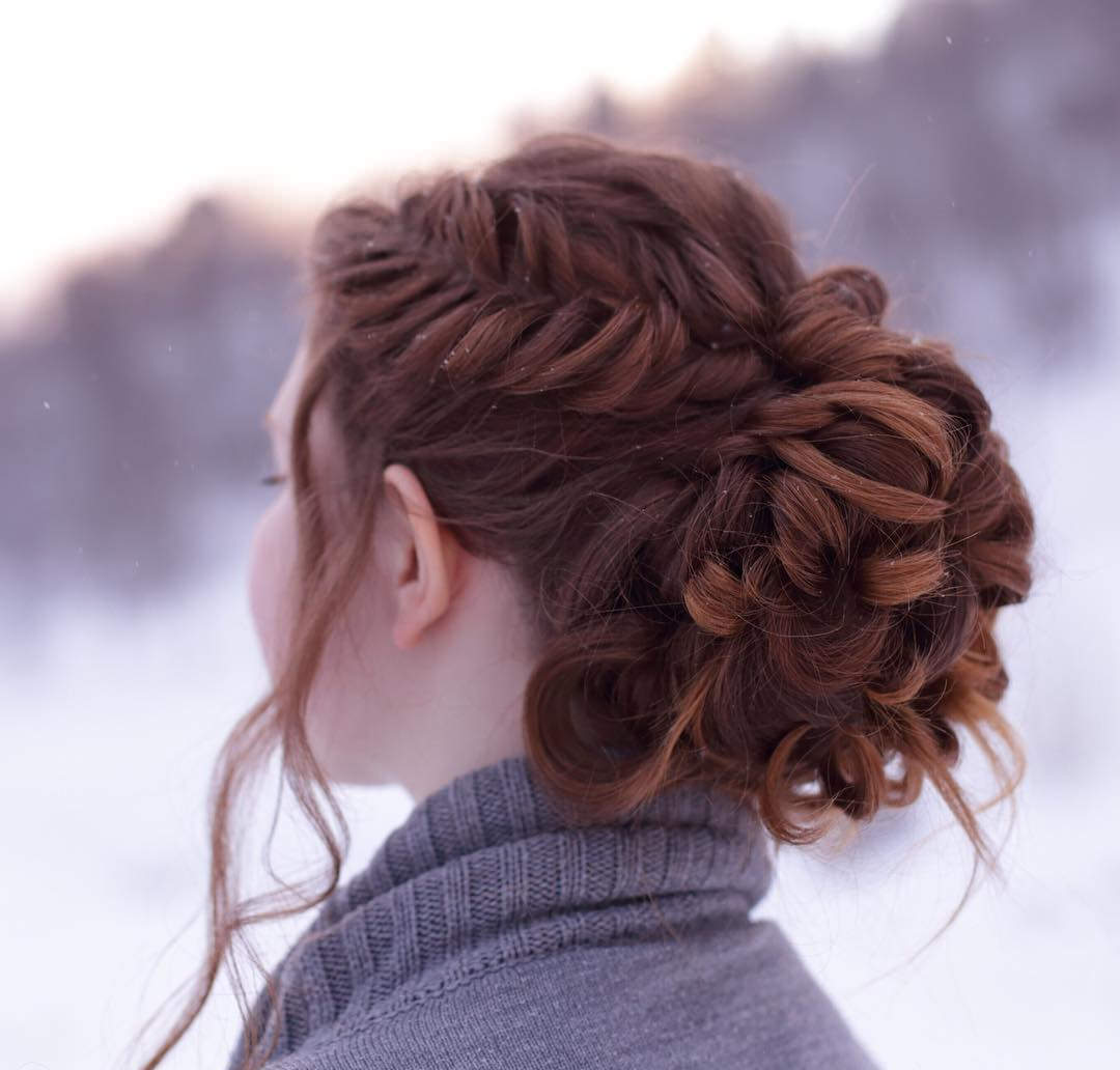 French Fishtail Updo
