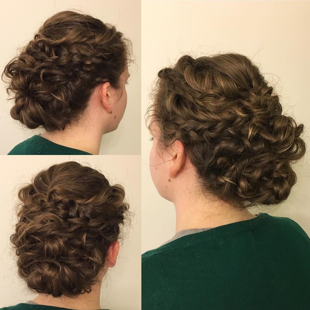 Textured Curls Updo.