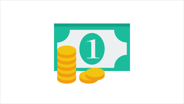 small and flat money icon