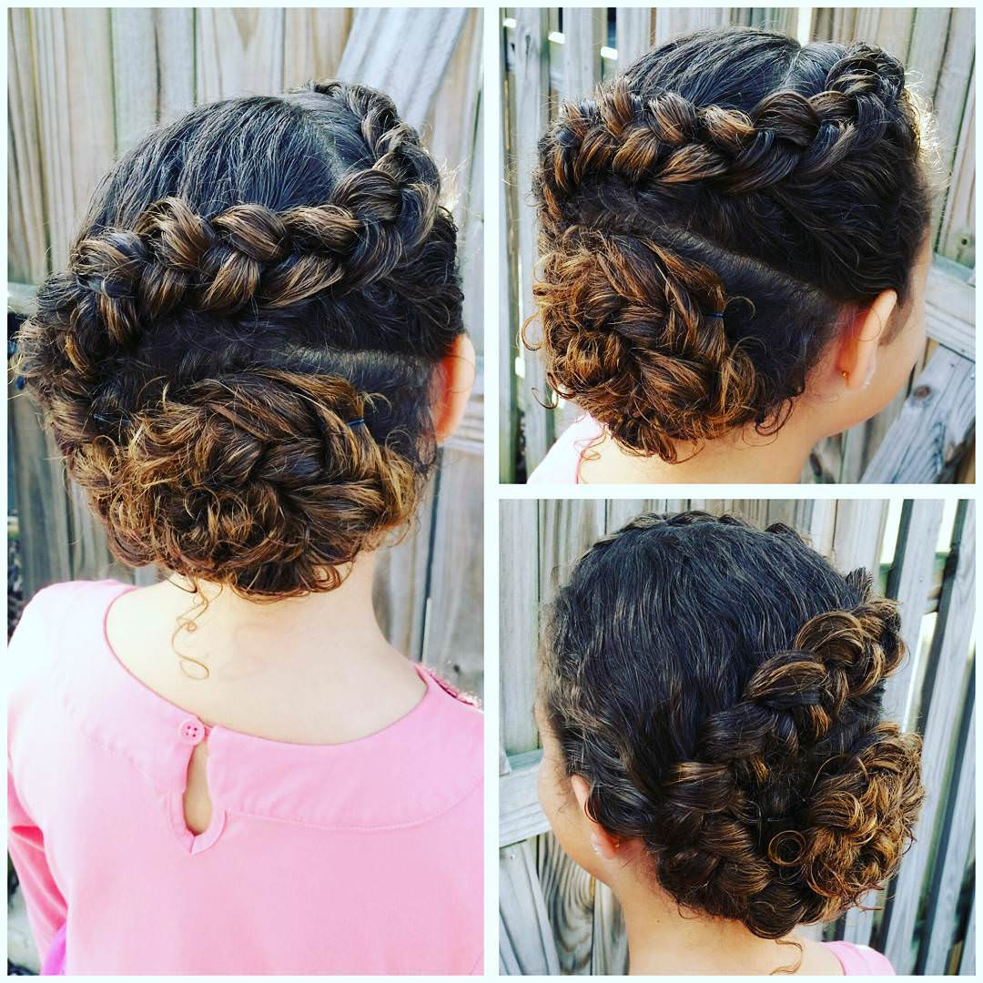 Dutch Braid Updo Hair