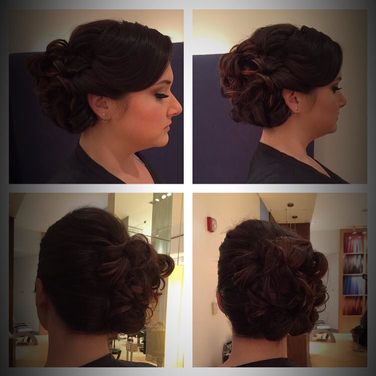 updo curly hair