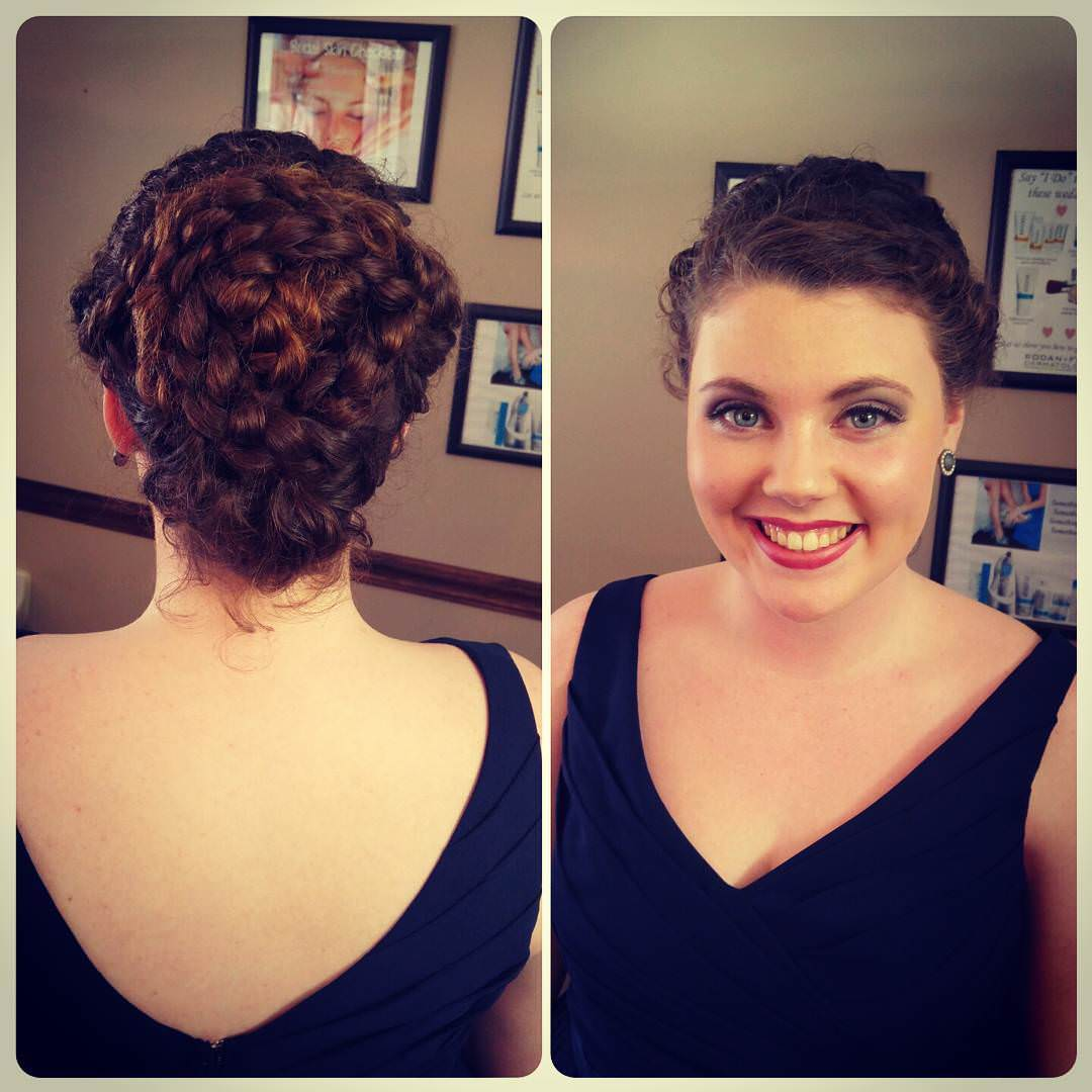 Curly Twisted Hair Updo