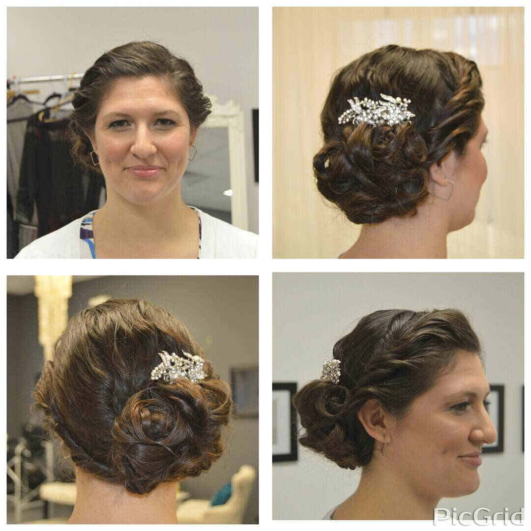 Classic Curly Hair Updo