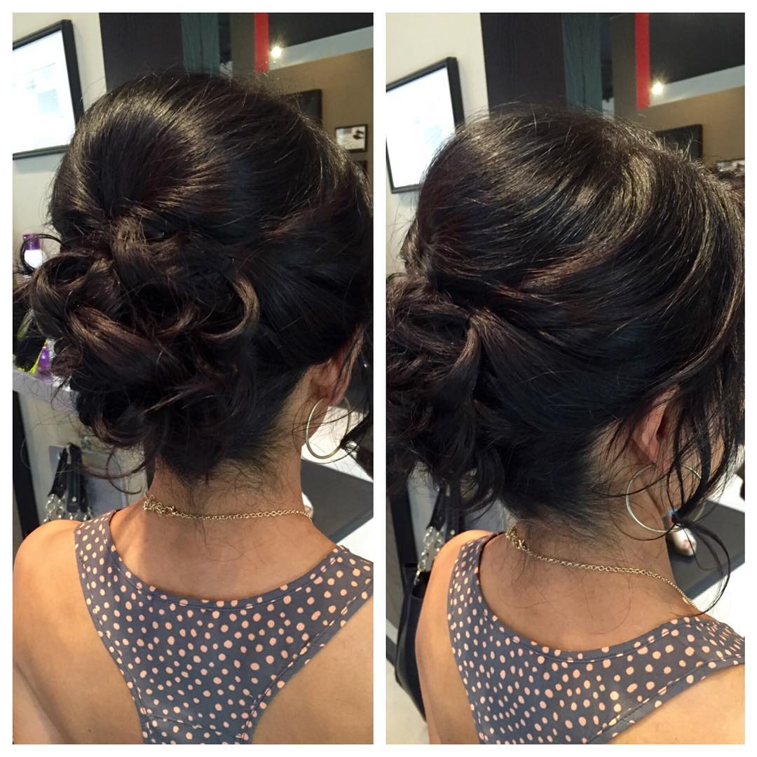 cute curly hair updo