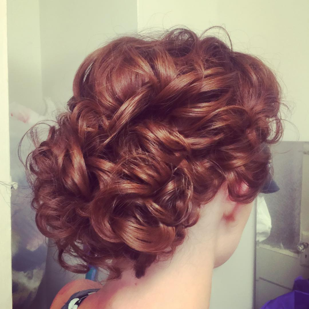delicate curly hair