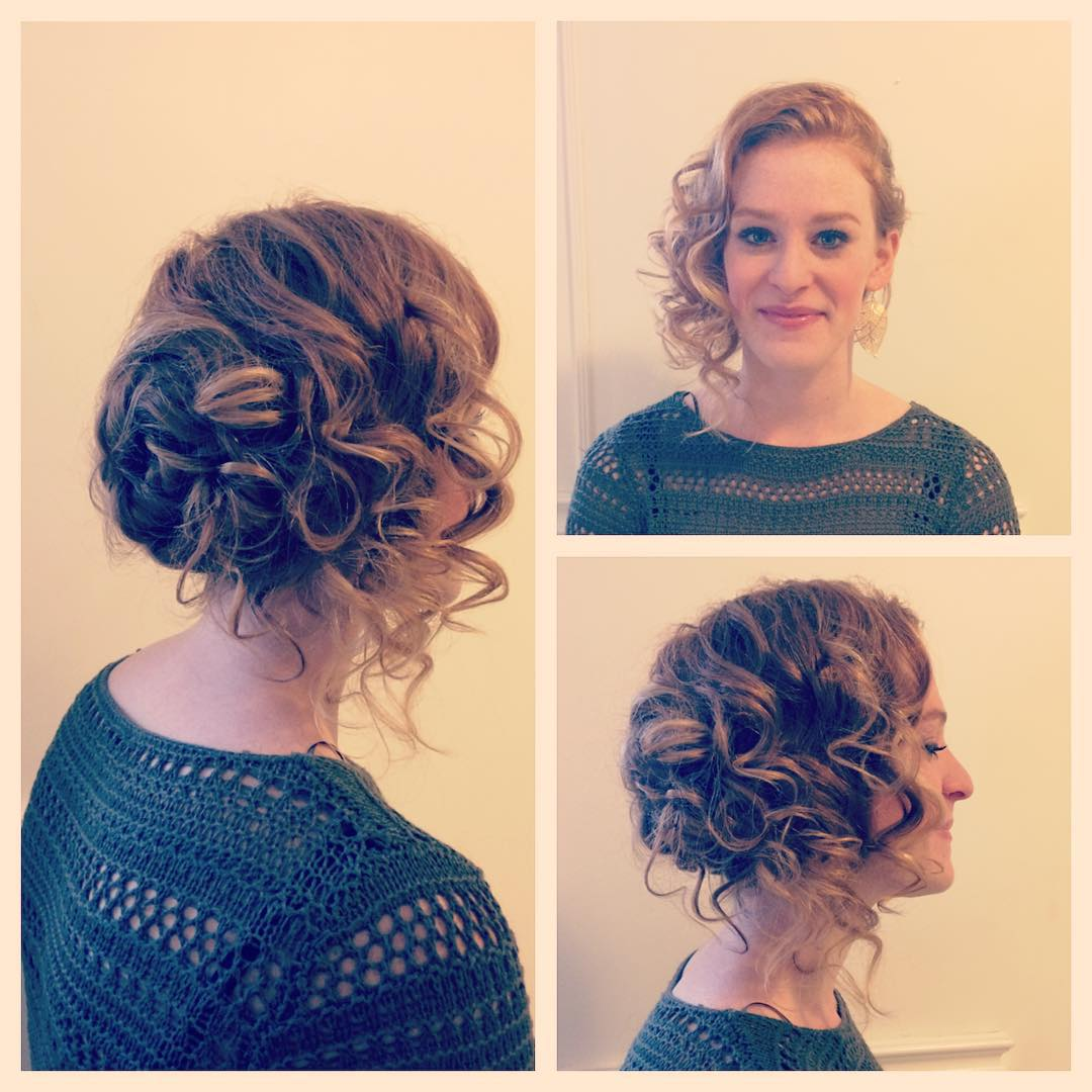 Casual Side Swept Updo