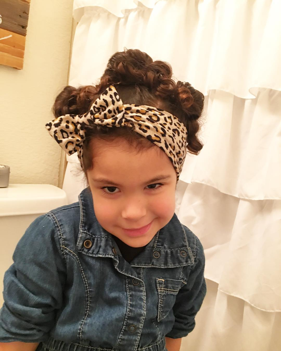 curly hair updo for kids