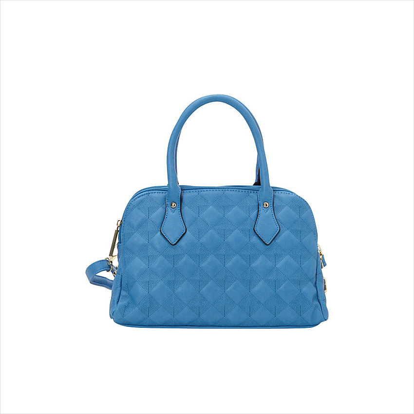 Fortuna Satchel Blue Handbag