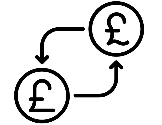 conversion currency from money to uk icon