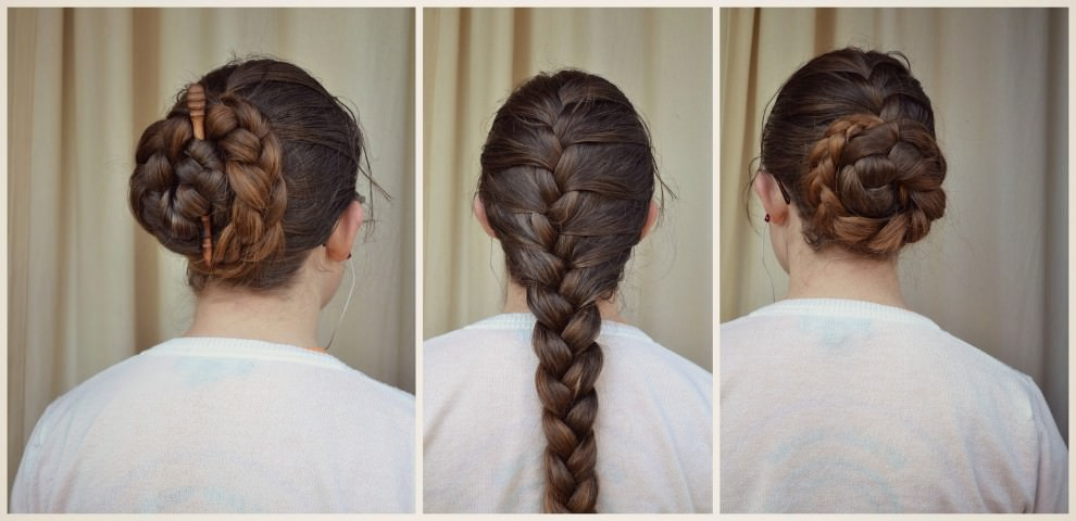 French Braids bun