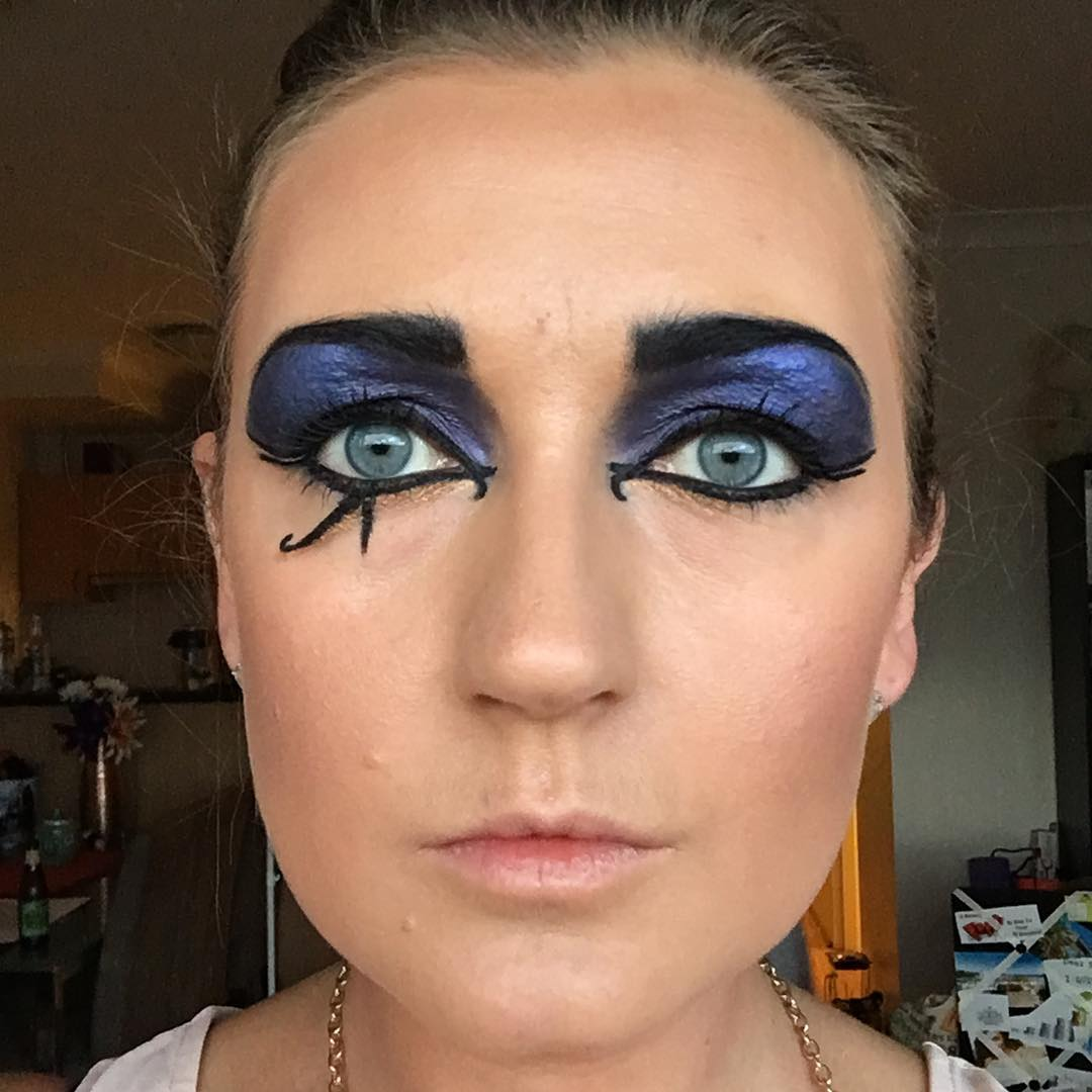 Black and Blue Eye Makeup