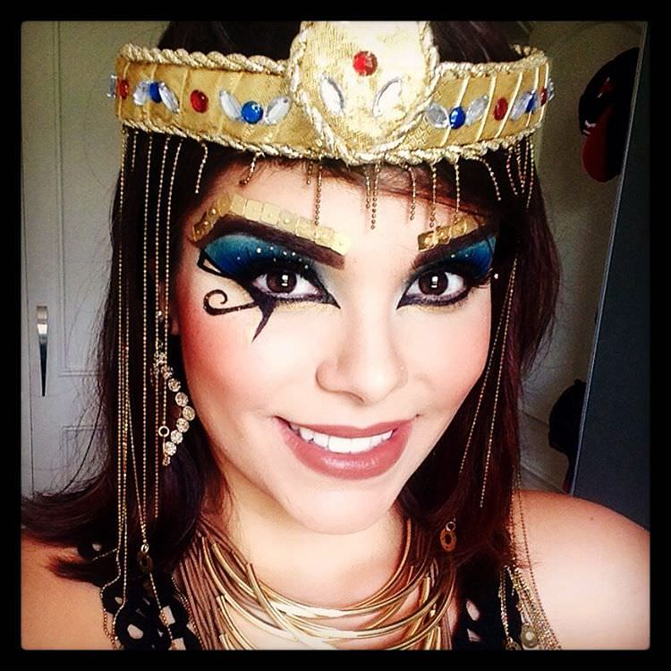 Carnaval Makeup of Cleopatra.