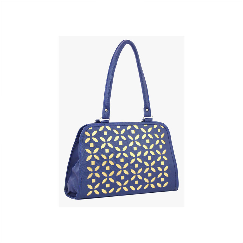 10th Planet-Blue Polyurethane Handbag