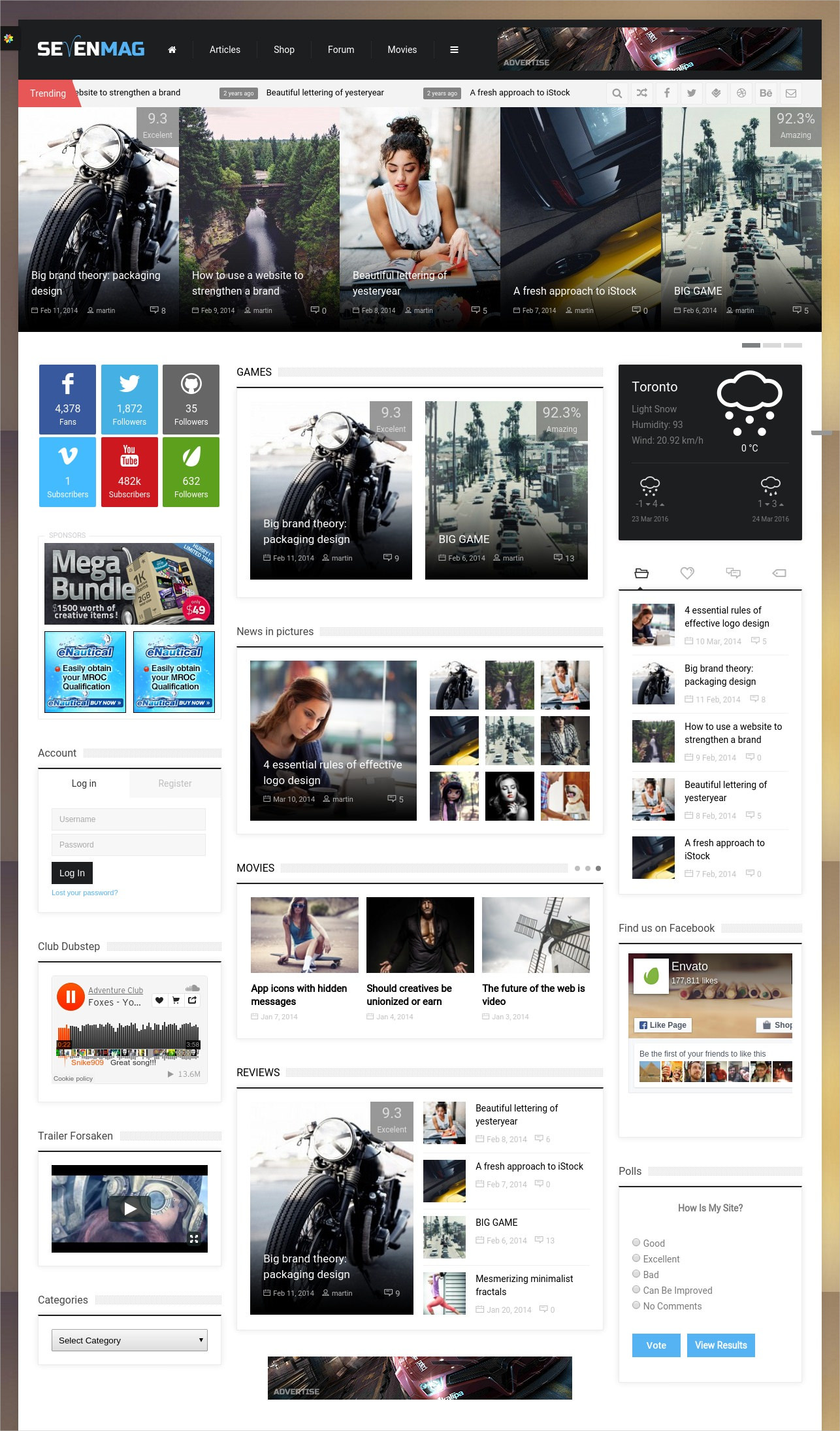 Blog Magzine Games News WP Theme