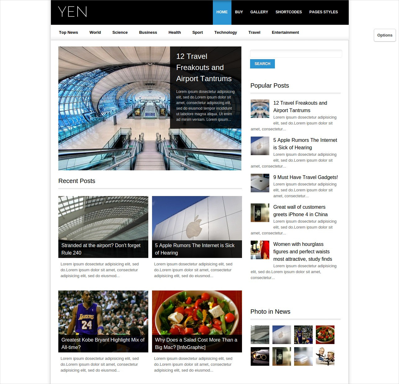 News & Blog WordPress Template