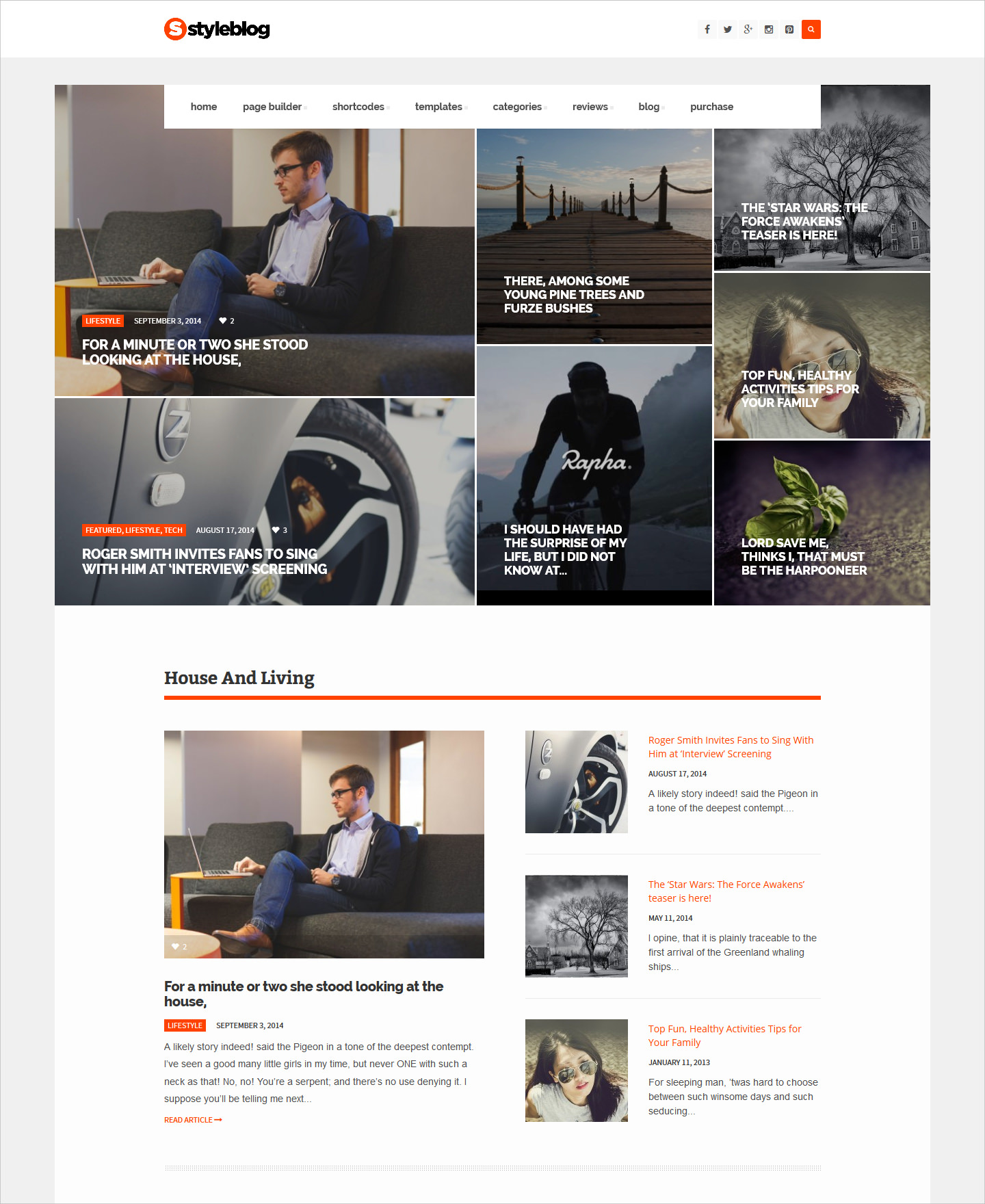 Style Blog News WordPress Theme