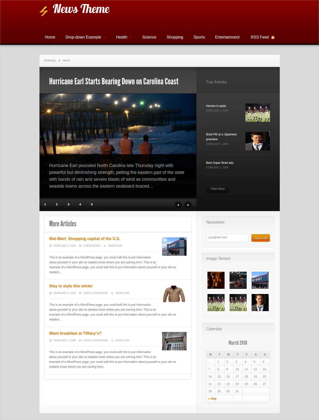 wordpress news blog theme free