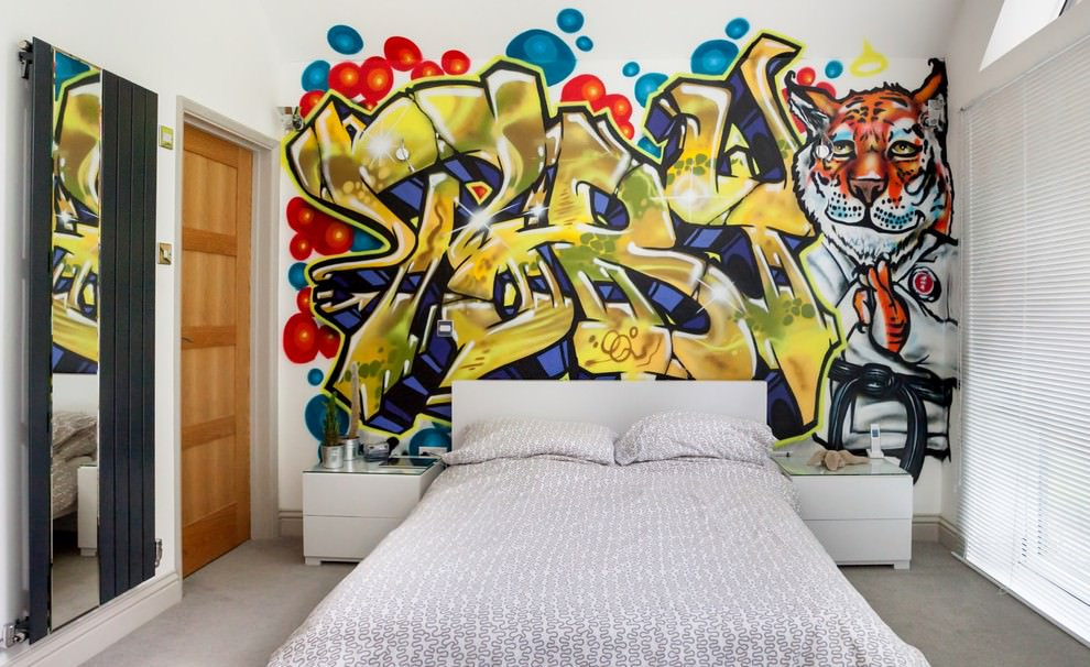 funky teen boys bedroom design
