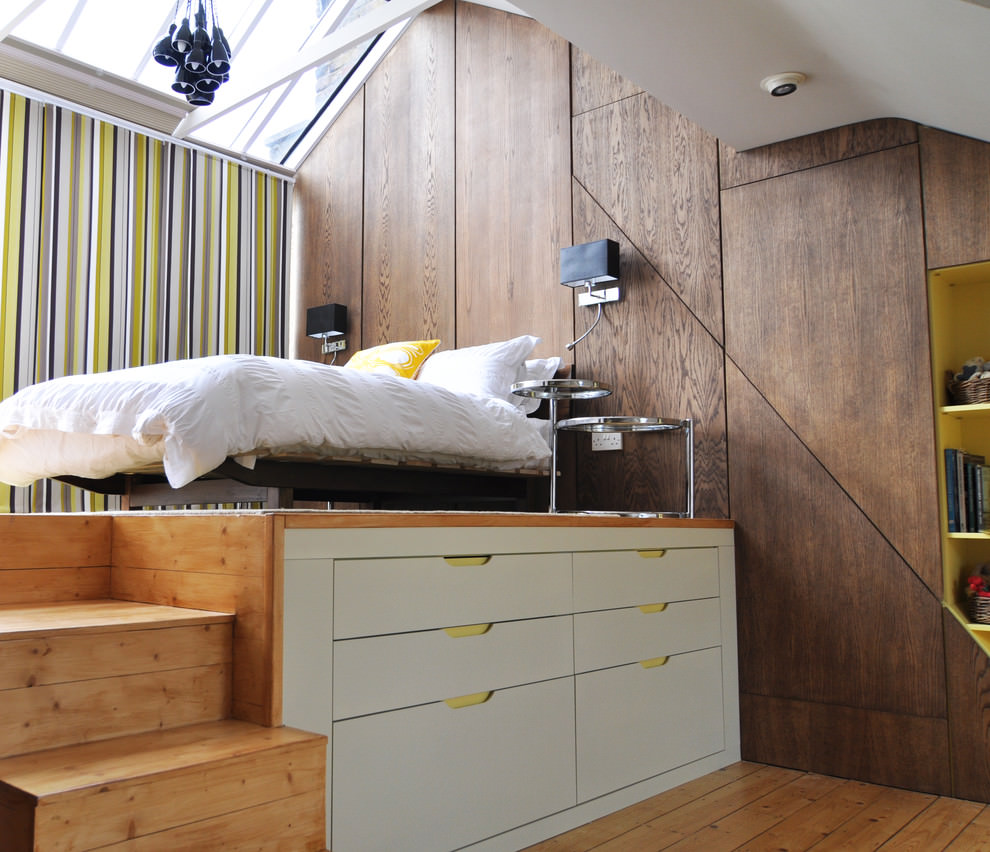 cool loft teen boy bed design