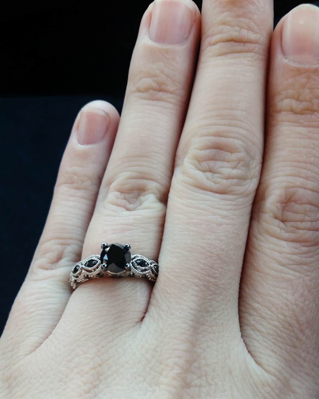 Fancy Black Diamond Ring
