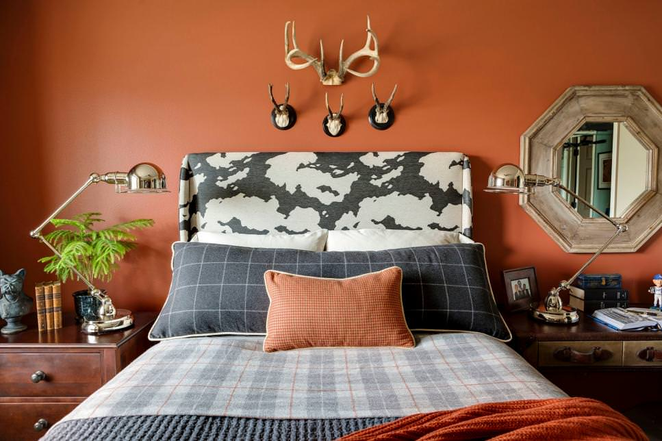 orange teen boys bedroom design