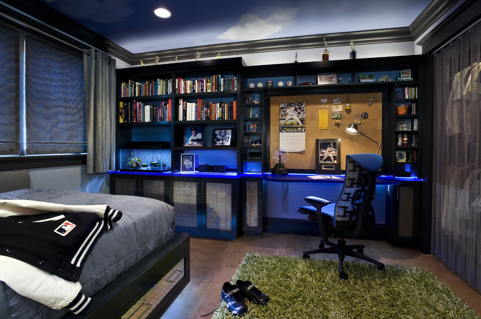 Teen Boys Bedroom With Study Table
