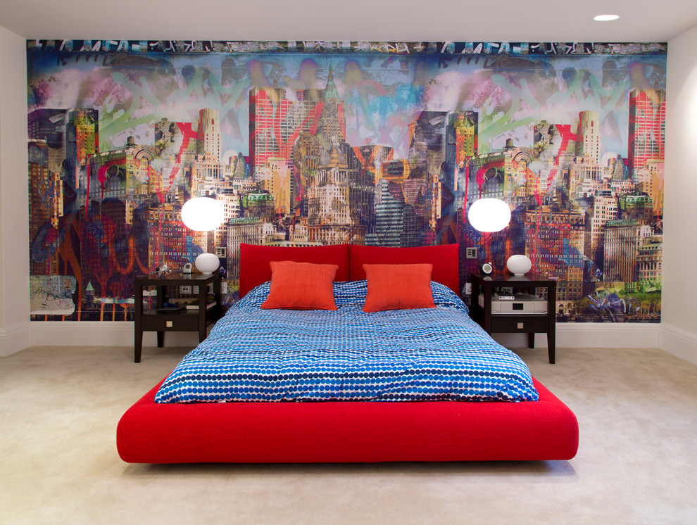 20 teen boys bedroom designs decorating ideas design for Boys bedroom mural