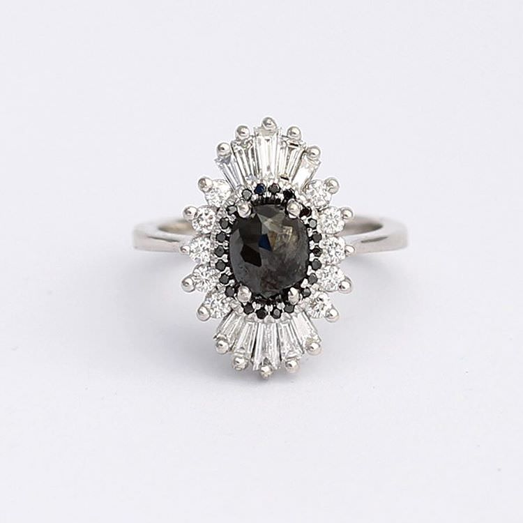 Classic Black and White Ring