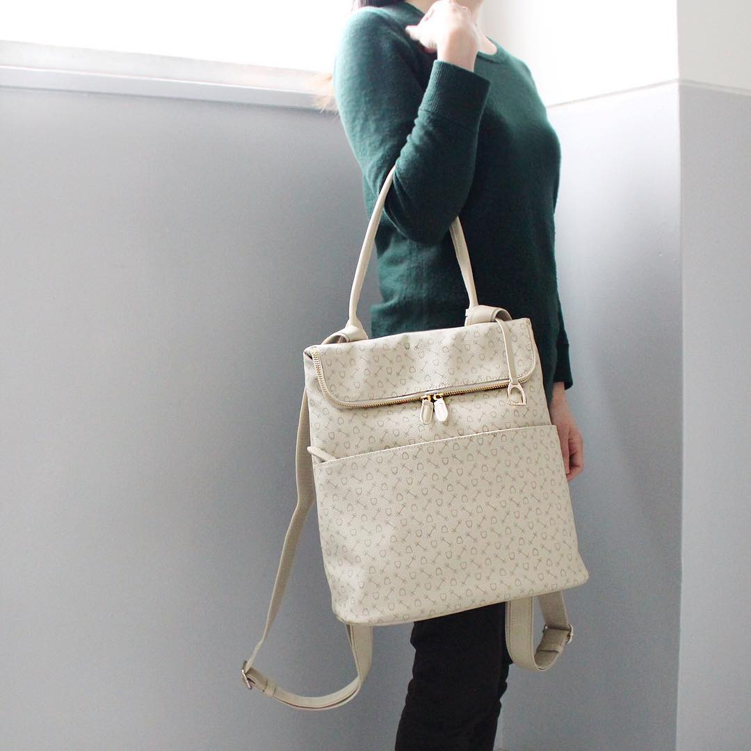 White Backpack Handbag