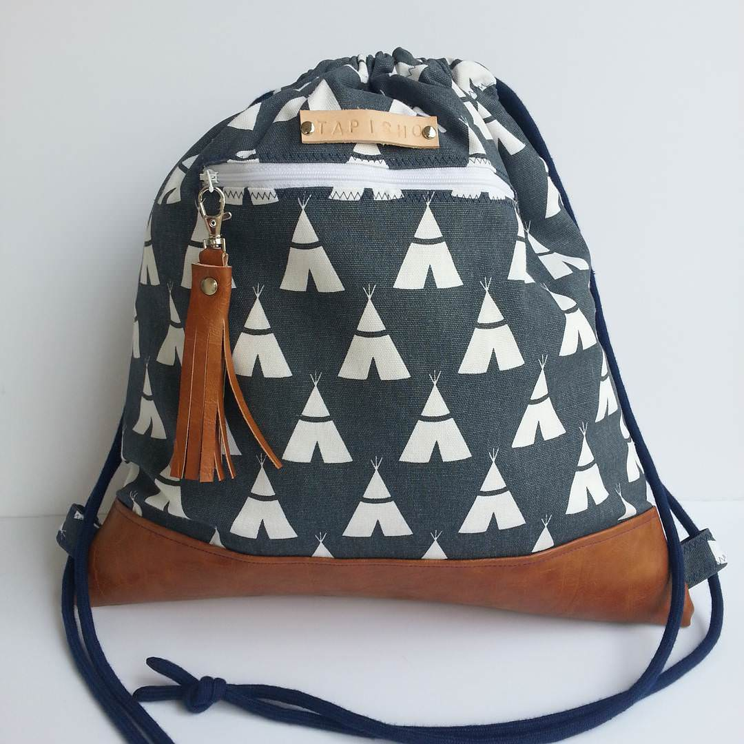Canvas Backpack Handbag