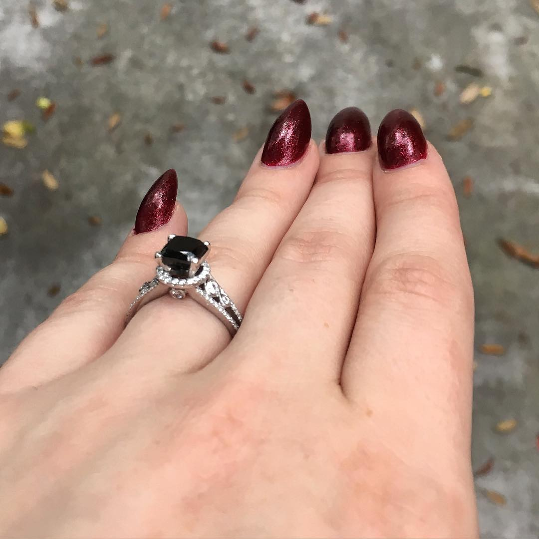 Different Black Diamond Ring