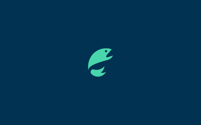 cute fish logo design