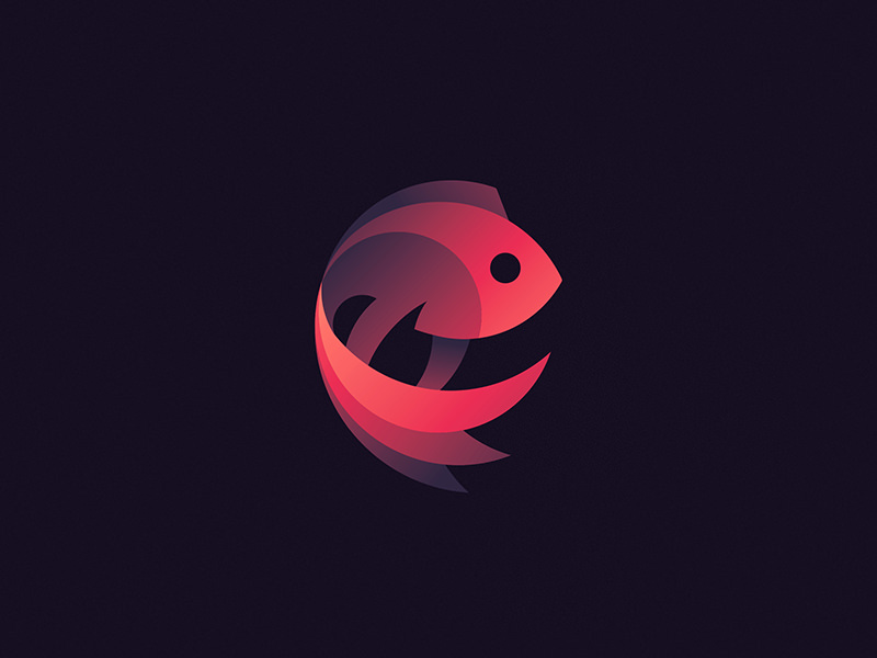 fighting fish logo design